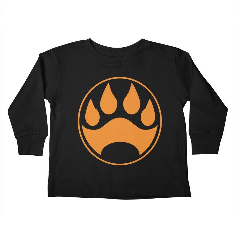 Stray - Orange Shield Kids Toddler Longsleeve T-Shirt by Delsante & Izaakse's STRAY Comic