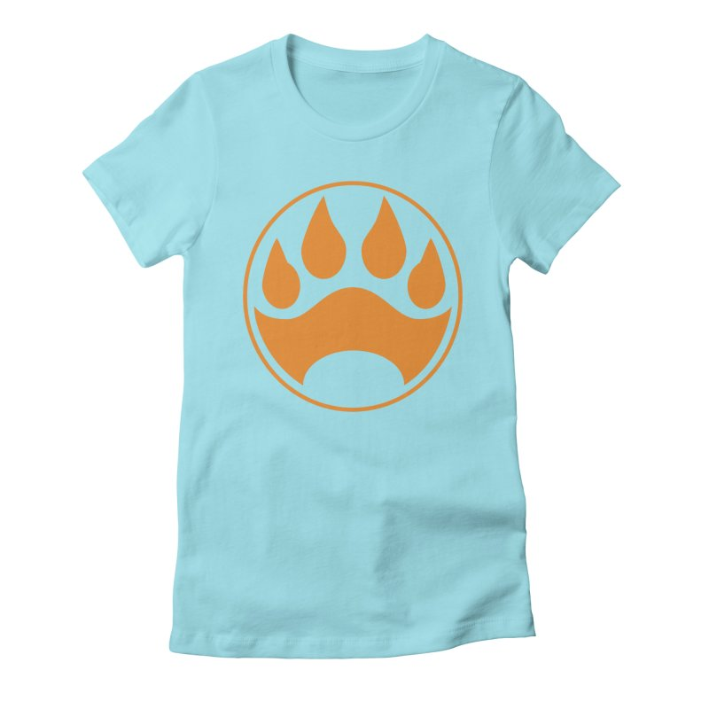 Stray - Orange Shield Women's Fitted T-Shirt by Delsante & Izaakse's STRAY Comic