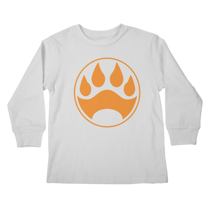 Stray - Orange Shield Kids Longsleeve T-Shirt by Delsante & Izaakse's STRAY Comic