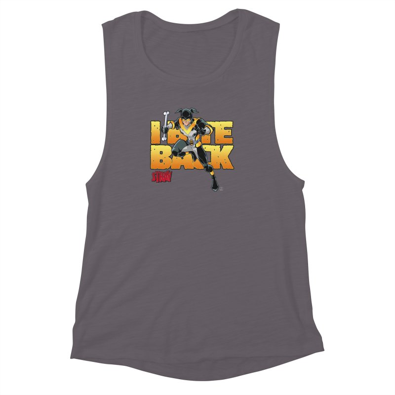 Stray - I Bite Back! Women's Muscle Tank by Delsante & Izaakse's STRAY Comic