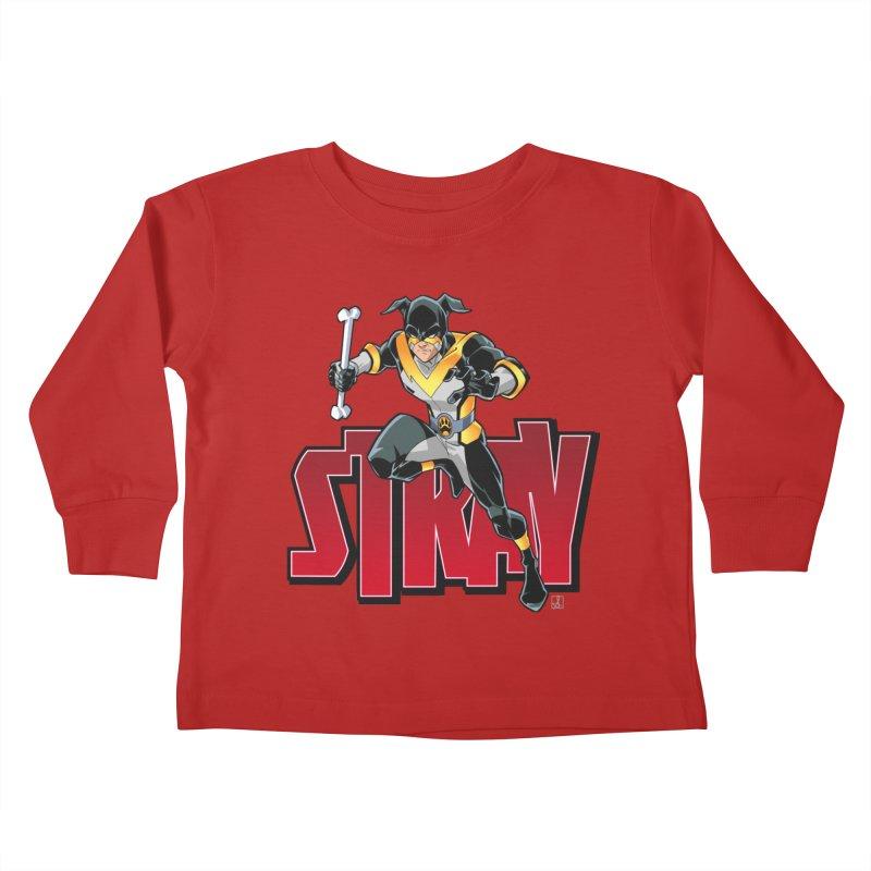 Stray - Action Logo Kids Toddler Longsleeve T-Shirt by Delsante & Izaakse's STRAY Comic