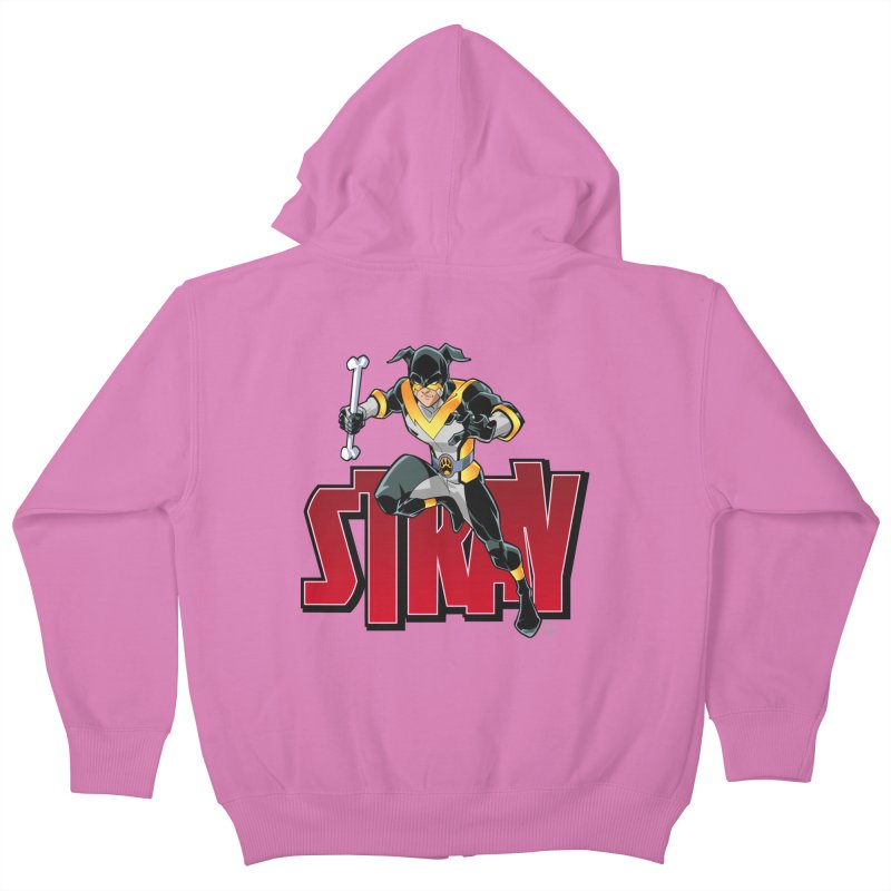 Stray - Action Logo Kids Zip-Up Hoody by Delsante & Izaakse's STRAY Comic