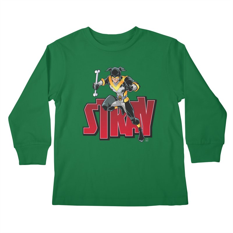Stray - Action Logo Kids Longsleeve T-Shirt by Delsante & Izaakse's STRAY Comic
