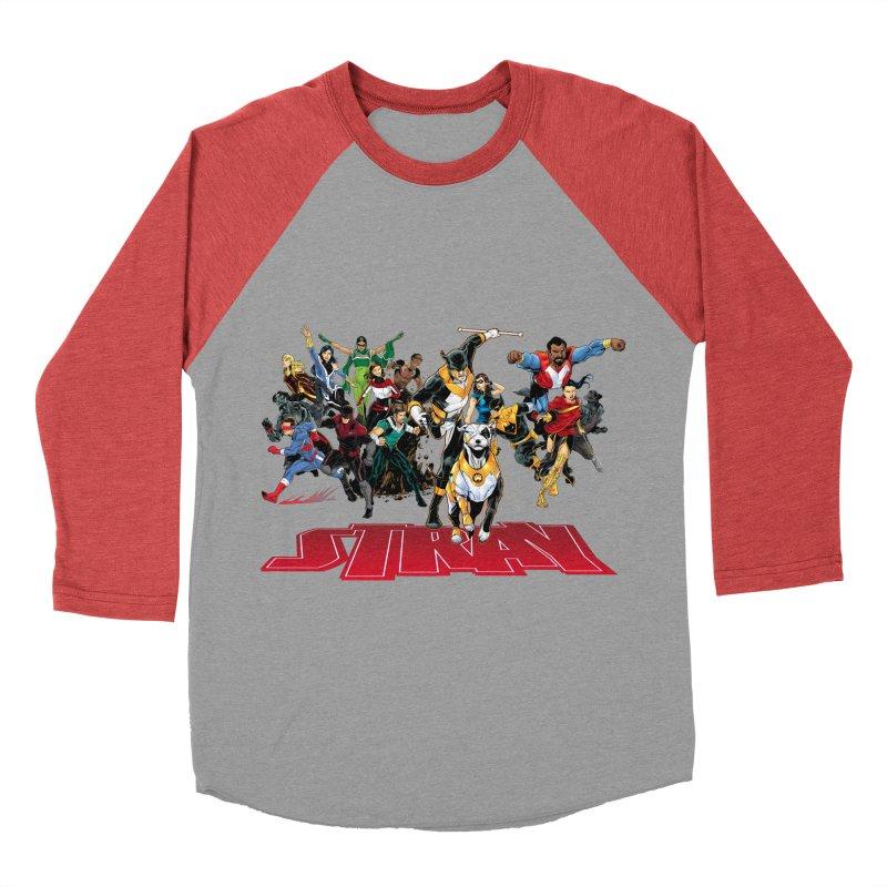 Stray - Heroes Men's Baseball Triblend T-Shirt by Delsante & Izaakse's STRAY Comic