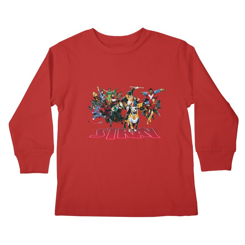 Stray - Heroes Kids Longsleeve T-Shirt by Delsante & Izaakse's STRAY Comic