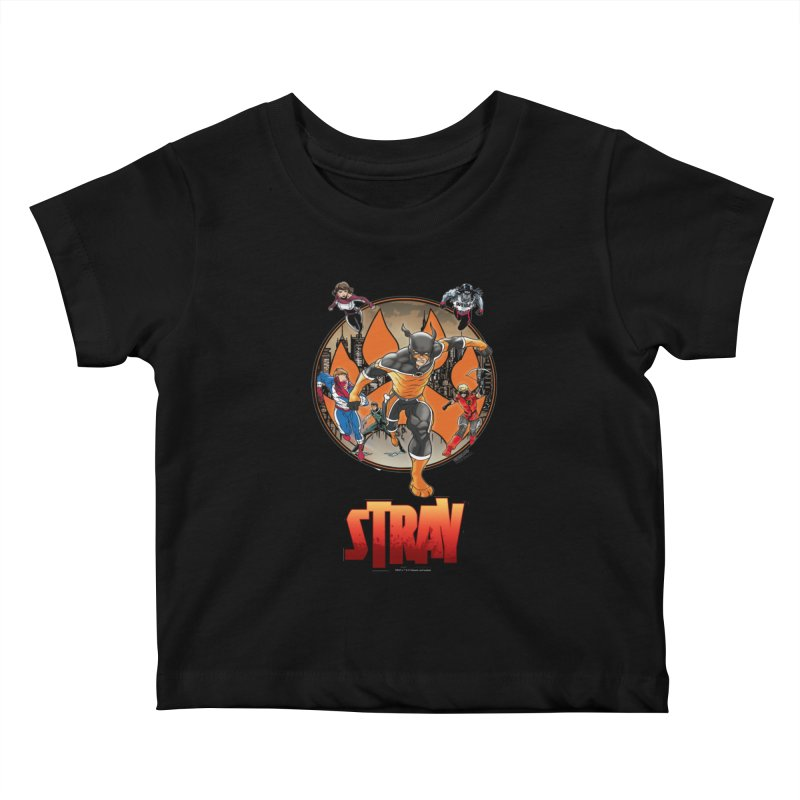 Back In The Day Kids Baby T-Shirt by Delsante & Izaakse's STRAY Comic