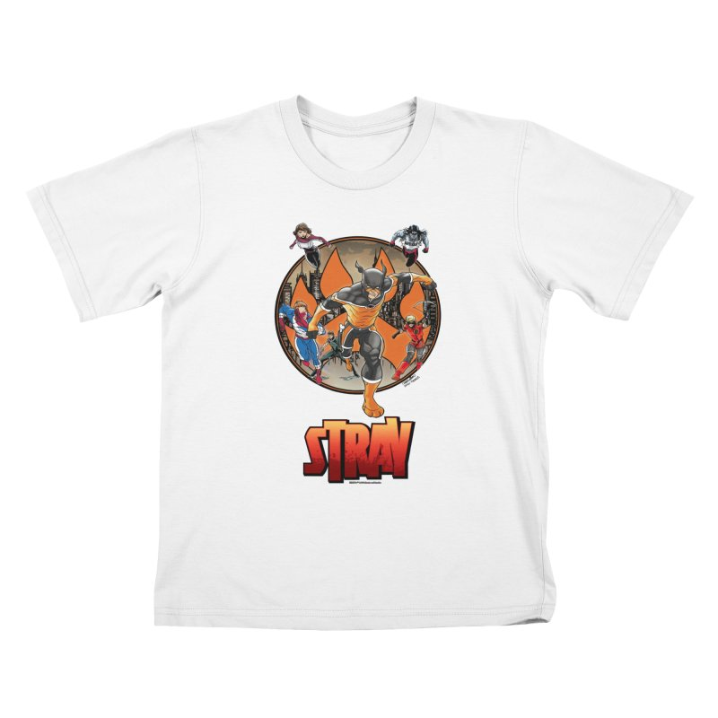 Back In The Day Kids T-shirt by Delsante & Izaakse's STRAY Comic