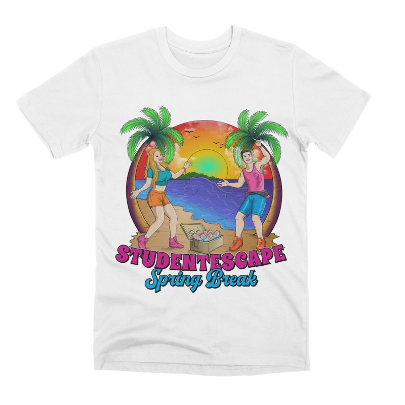 Spring Break Souvenir Men's T-Shirt by StudentEscape's Goods