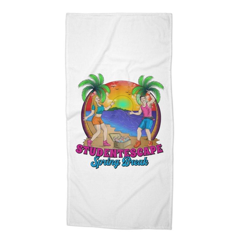 Spring Break Souvenir Accessories Beach Towel by StudentEscape's Goods