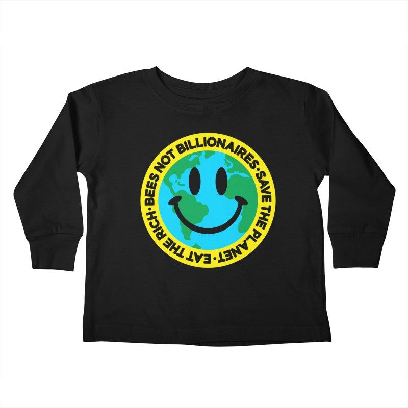 Eat The Rich Kids Toddler Longsleeve T-Shirt by StudioDelme