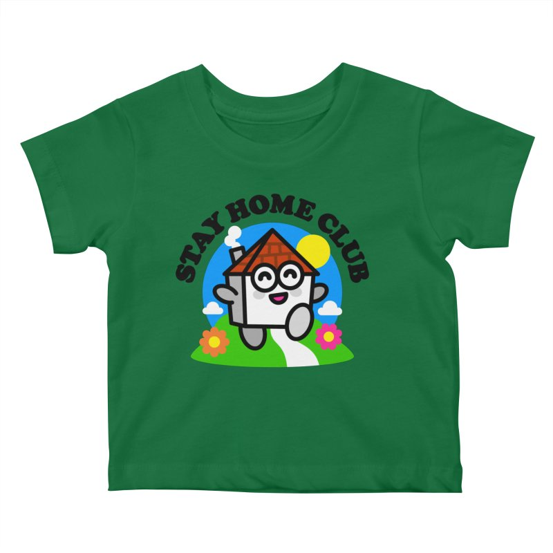 Stay Home Club Kids Baby T-Shirt by StudioDelme