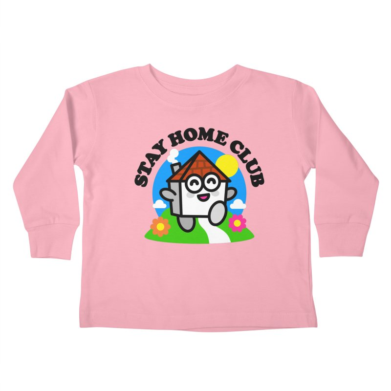 Stay Home Club Kids Toddler Longsleeve T-Shirt by StudioDelme