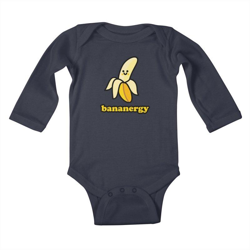 Bananergy! Kids Baby Longsleeve Bodysuit by StudioDelme