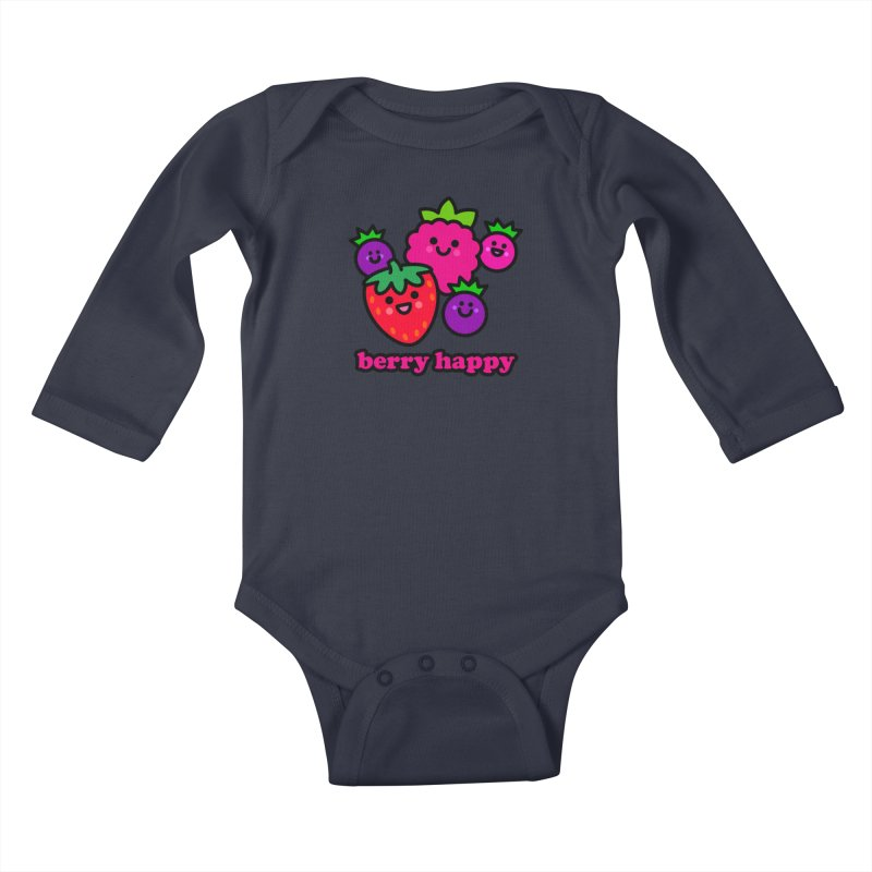 Berry Happy! Kids Baby Longsleeve Bodysuit by StudioDelme