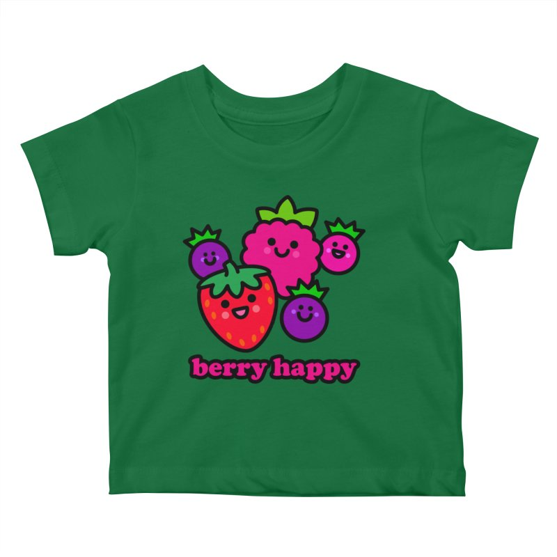 Berry Happy! Kids Baby T-Shirt by StudioDelme