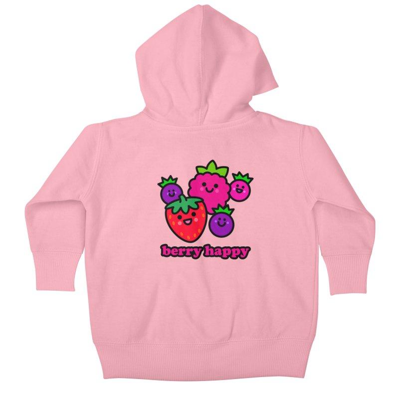 Berry Happy! Kids Baby Zip-Up Hoody by StudioDelme