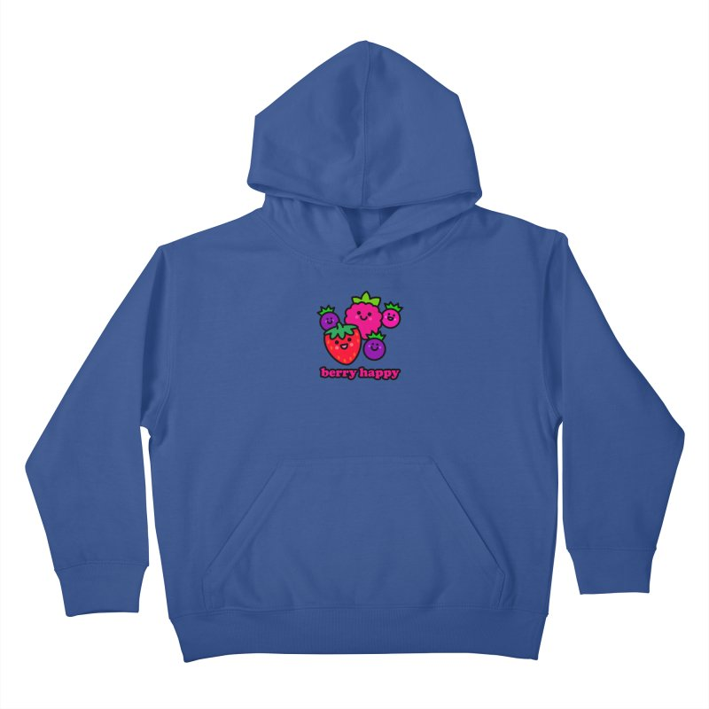 Berry Happy! Kids Pullover Hoody by StudioDelme
