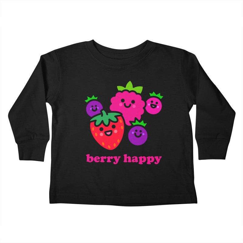 Berry Happy! Kids Toddler Longsleeve T-Shirt by StudioDelme