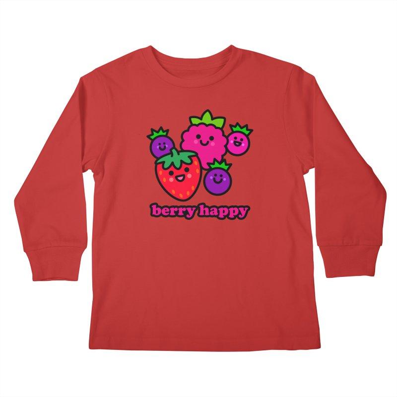 Berry Happy! Kids Longsleeve T-Shirt by StudioDelme