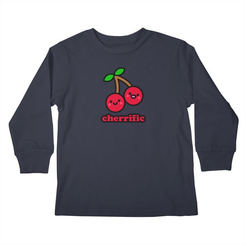 Cherrific! Kids Longsleeve T-Shirt by StudioDelme