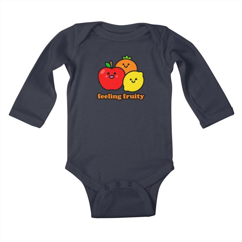 Feeling Fruity! Kids Baby Longsleeve Bodysuit by StudioDelme