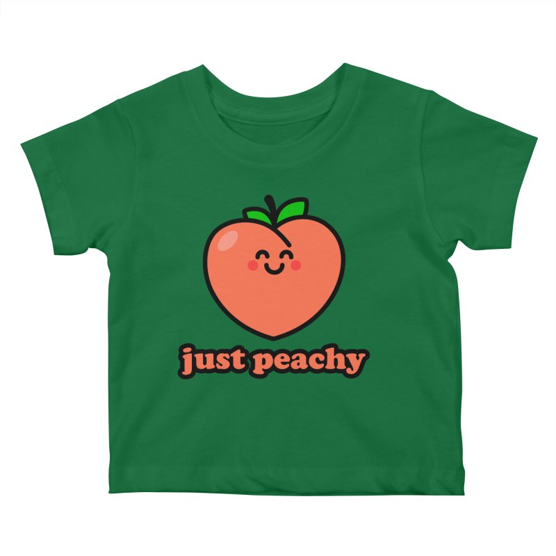 Just Peachy! Kids Baby T-Shirt by StudioDelme