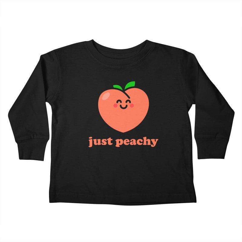 Just Peachy! Kids Toddler Longsleeve T-Shirt by StudioDelme