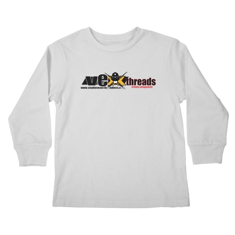 Apparel logo Kids Longsleeve T-Shirt by StudioVexer's Artist Shop