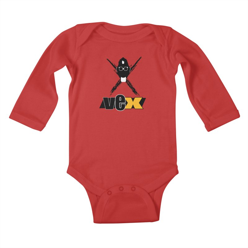 """The VEXer Imprint and """"Nickname"""" logo Kids Baby Longsleeve Bodysuit by StudioVexer's Artist Shop"""
