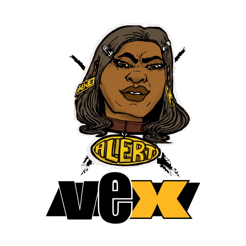 Alert VexFace design Women's V-Neck by StudioVexer's Artist Shop