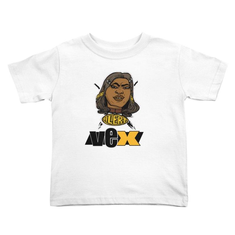 Alert VexFace design Kids Toddler T-Shirt by StudioVexer's Artist Shop