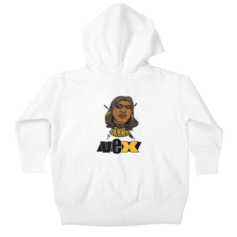 Alert VexFace design Kids Baby Zip-Up Hoody by StudioVexer's Artist Shop
