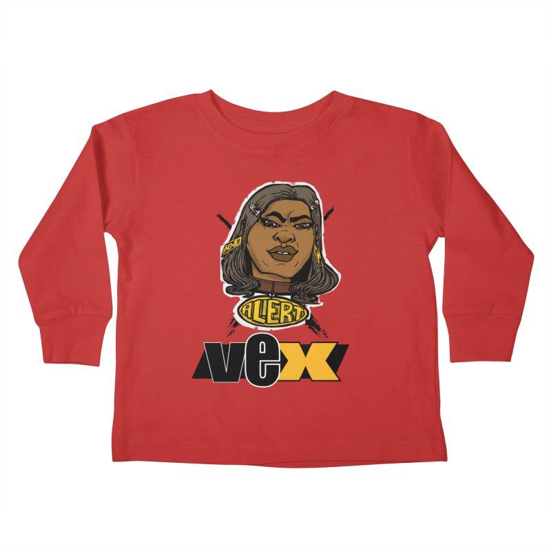 Alert VexFace design Kids Toddler Longsleeve T-Shirt by StudioVexer's Artist Shop