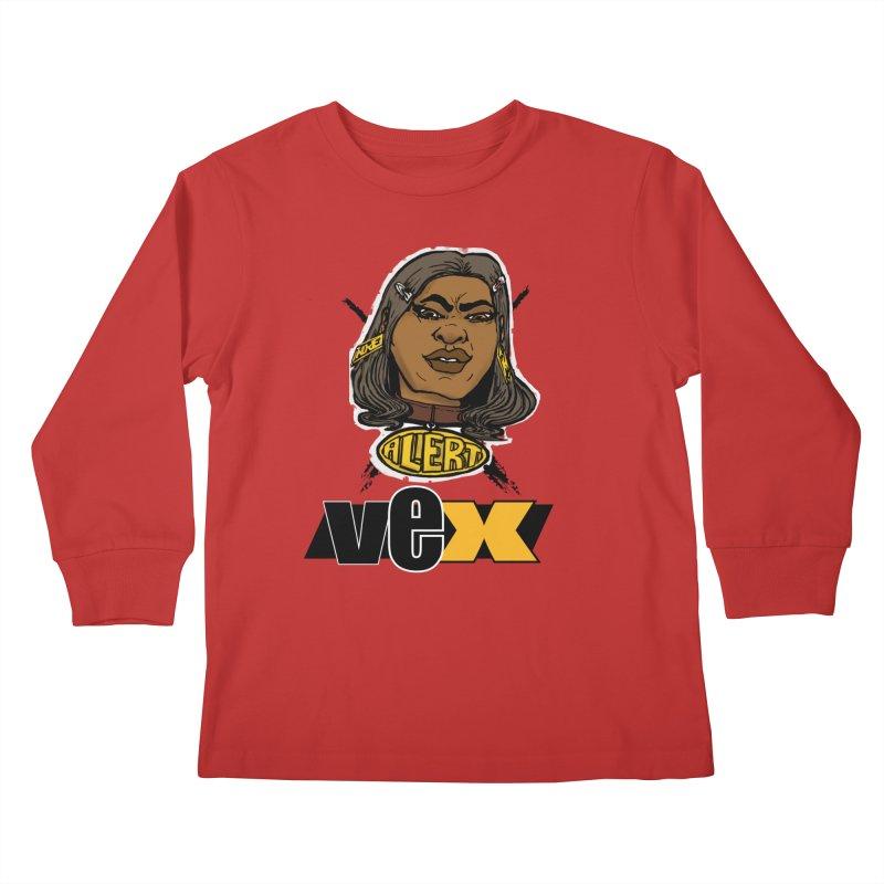 Alert VexFace design Kids Longsleeve T-Shirt by StudioVexer's Artist Shop
