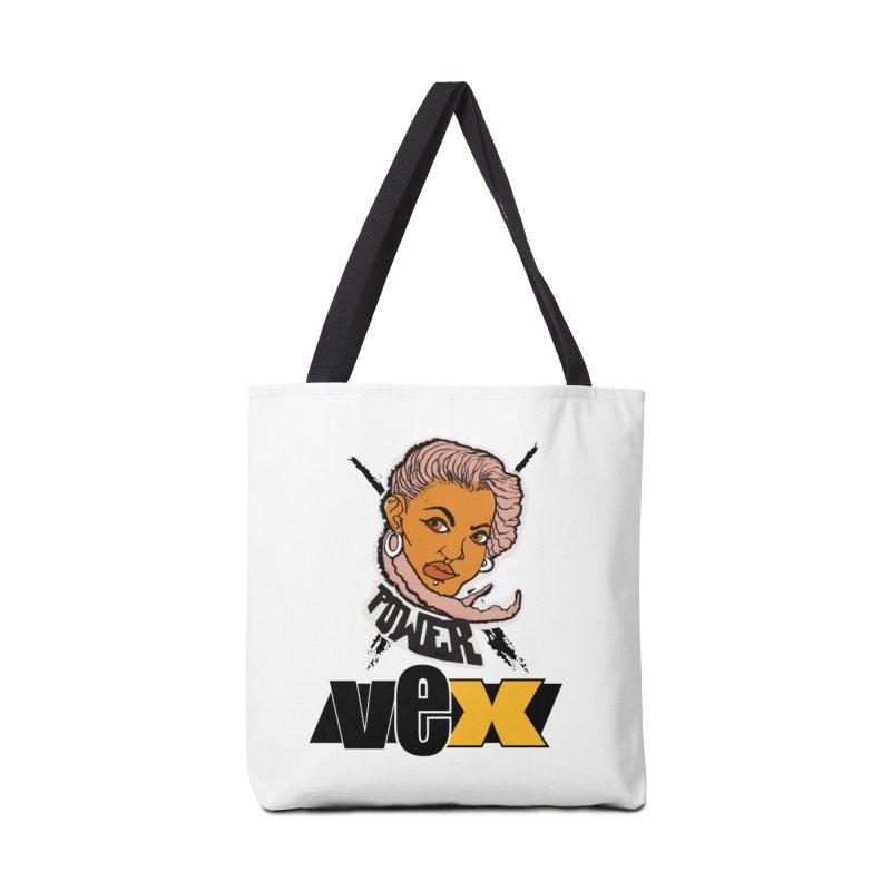 Power Vex Face design Accessories Bag by StudioVexer's Artist Shop