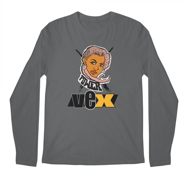 Power Vex Face design Men's Longsleeve T-Shirt by StudioVexer's Artist Shop