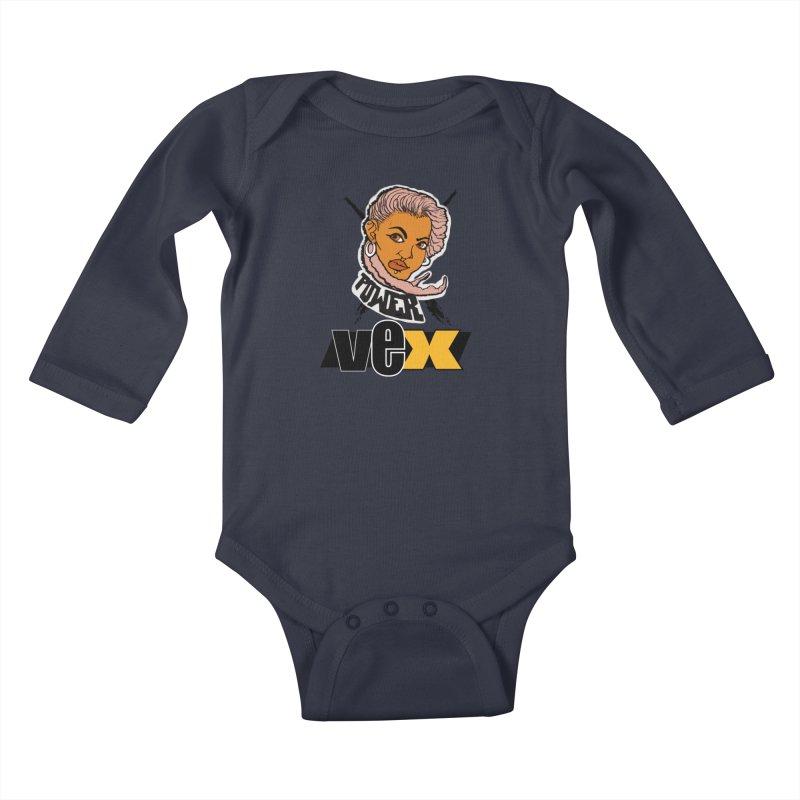Power Vex Face design Kids Baby Longsleeve Bodysuit by StudioVexer's Artist Shop