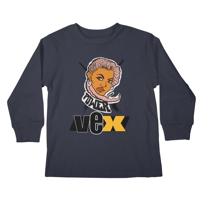 Power Vex Face design Kids Longsleeve T-Shirt by StudioVexer's Artist Shop
