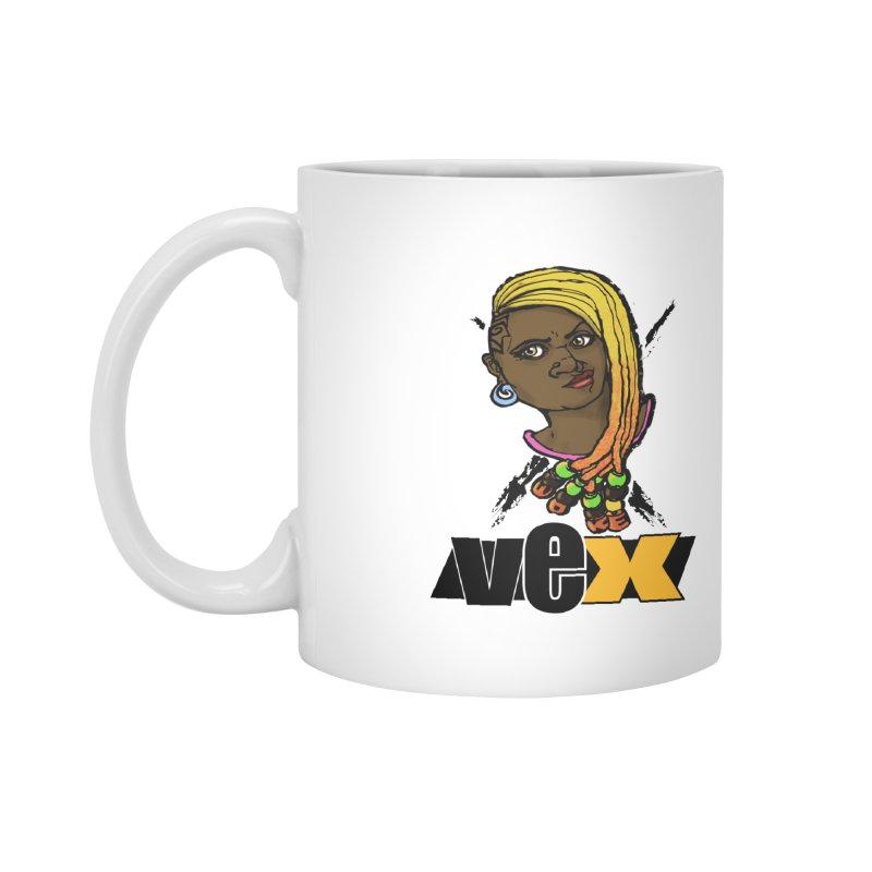 Woke Vex Face design Accessories Mug by StudioVexer's Artist Shop