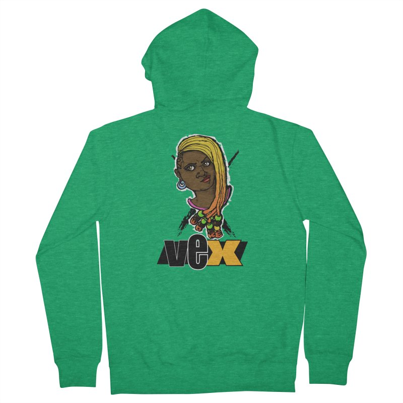 Woke Vex Face design Women's Zip-Up Hoody by StudioVexer's Artist Shop