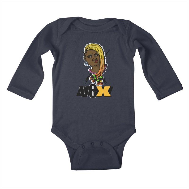Woke Vex Face design Kids Baby Longsleeve Bodysuit by StudioVexer's Artist Shop