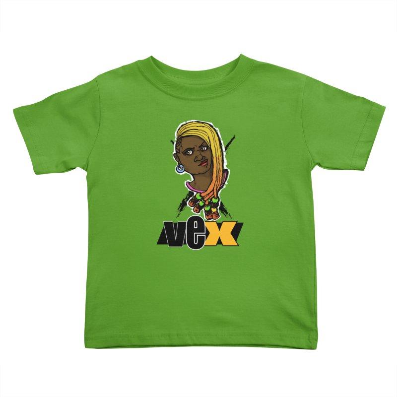 Woke Vex Face design Kids Toddler T-Shirt by StudioVexer's Artist Shop