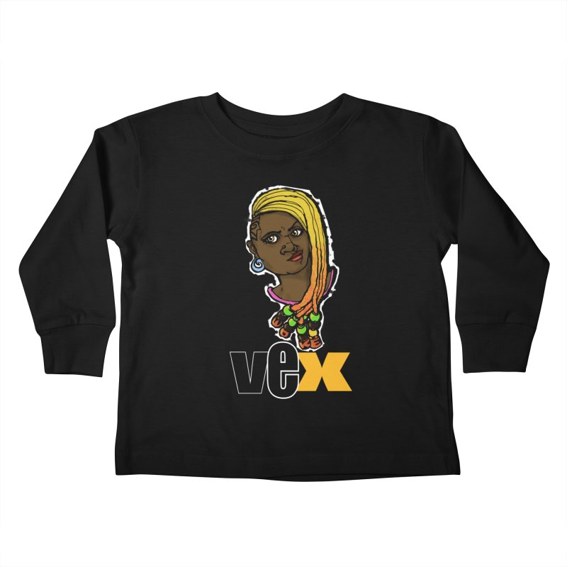 Woke Vex Face design Kids Toddler Longsleeve T-Shirt by StudioVexer's Artist Shop