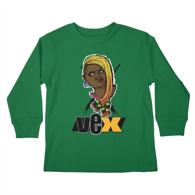 Woke Vex Face design Kids Longsleeve T-Shirt by StudioVexer's Artist Shop