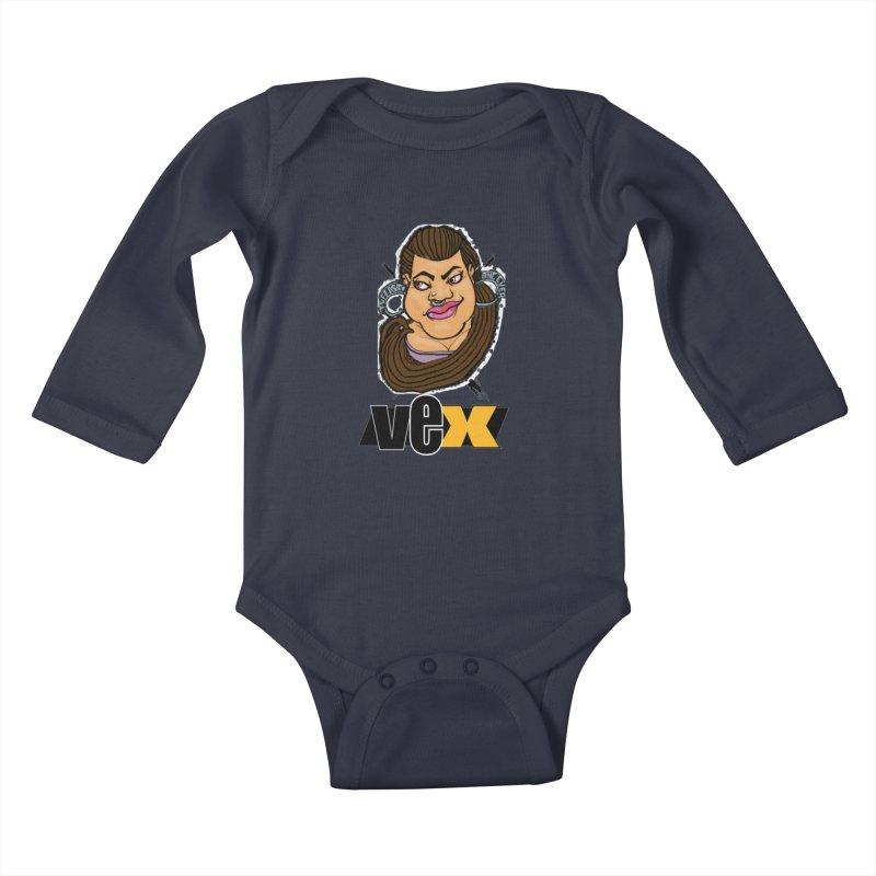 Tuffest Vex Face design Kids Baby Longsleeve Bodysuit by StudioVexer's Artist Shop