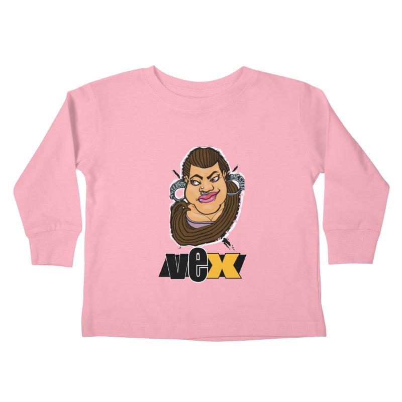 Tuffest Vex Face design Kids Toddler Longsleeve T-Shirt by StudioVexer's Artist Shop