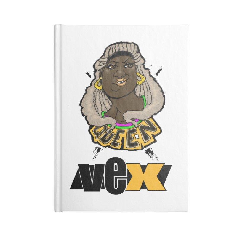 Queen Vex Face design Accessories Notebook by StudioVexer's Artist Shop