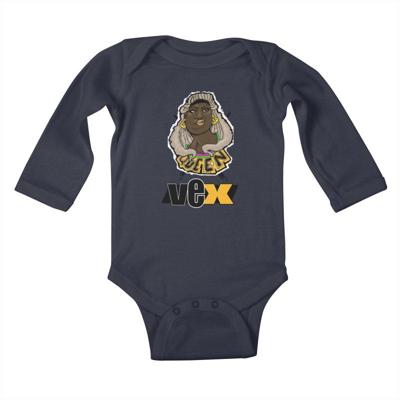 Queen Vex Face design Kids Baby Longsleeve Bodysuit by StudioVexer's Artist Shop