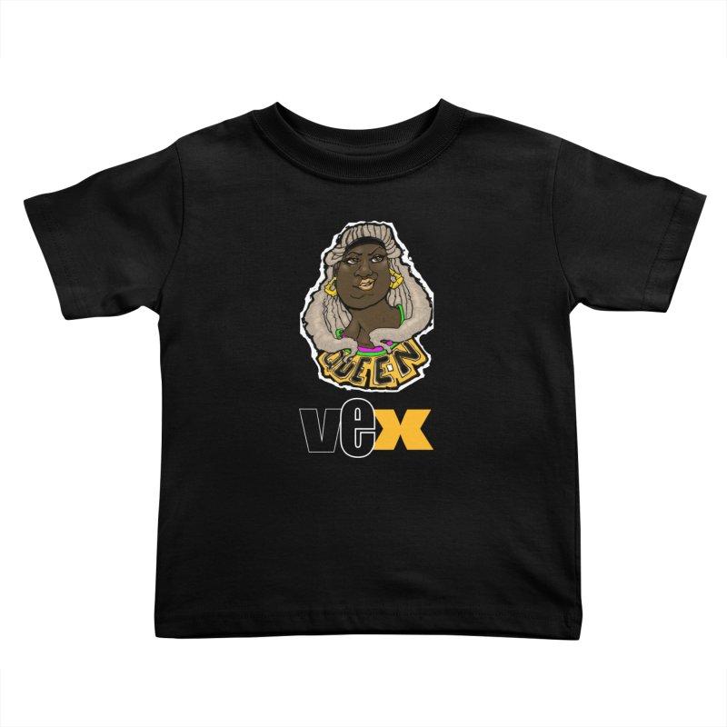Queen Vex Face design Kids Toddler T-Shirt by StudioVexer's Artist Shop