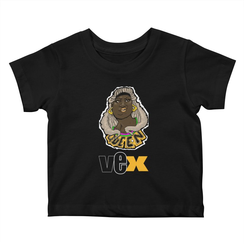 Queen Vex Face design Kids Baby T-Shirt by StudioVexer's Artist Shop